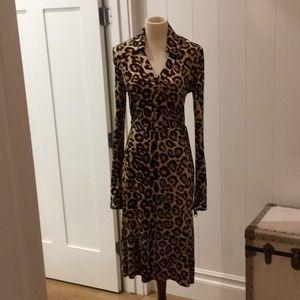 Pink Tartan cheetah print dress